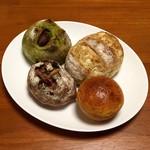 スーリープー - ブリオッシュクリームパン・カンパーニュ(ナッツ&フルーツ)・抹茶マロン・アールグレイとホワイトチョコ