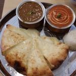 アジアン料理サハラ - チーズナンセット