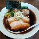 一刀流らーめん - 【煮干醤油ラーメン + 味玉子】¥730 + ¥100