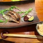 旬魚処 海蔵 - スズキの雲丹ソース焼き 別添えのソースで頂きます(^-^)/