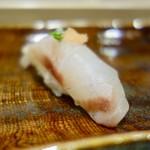 59931104 - [2016/12]寿司③ 天然石垣鯛の握り