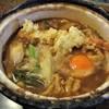 ひら松 - 料理写真:味噌煮込みうどん 大盛 890円 + 天ぷら 250円 + 玉子 50円 = 1,190円(税込)。