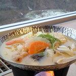 章月グランドホテル - 味噌仕立ての鍋