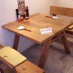 寿し松 - 予約のテーブル