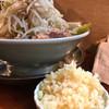 ラーメン富士丸 - 料理写真:ニンニクマシマシは別皿www