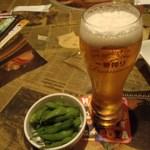 笑笑 - 生ビールと枝豆
