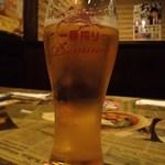 笑笑 - 生ビール 中!?