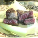 横浜 うかい亭 - サーロインステーキ。もう少し食べたかった!