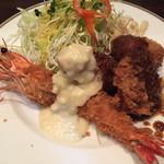 洋食SAEKI - ミックスフライランチ  ¥1000