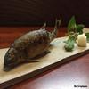 春秋菜酒 つなやす - 料理写真:串打ちと焼の技量の妙味、鮎の塩焼き