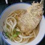 宮川製麺所 - かけ1玉にサバの天ぷら乗せ~♪ 320円