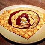 ブレッツカフェ クレープリー - ヴァローナチョコレートとバニラアイス
