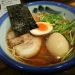 60030204 - 柚子醤油ラーメン+煮玉子 ¥980プラス¥230で¥1210