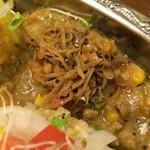 60043075 - カニ味噌オイルダルと食べる白いポタージュ鶏キーマ