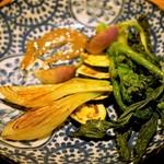 ウオカメ - 野菜鉄板焼き 1,200円