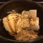 そば処 中村 - 自家製 そば葛餅 アイスクリーム添え(アップ)