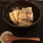 そば処 中村 - 自家製 そば葛餅 アイスクリーム添え