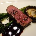 リストランテ プリマヴェーラ - 愛鷹牛フィレ肉のソテー・マルサラ酒のソース