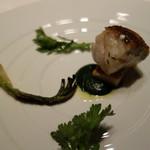 リストランテ プリマヴェーラ - ハタのポアレ・春菊のソース