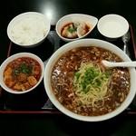 リトル成都 - 【ランチ】リアル酸辣湯麺:880円+ミニ麻婆豆腐:100円