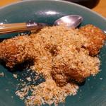 老虎菜 - 鱈白子金砂炒め