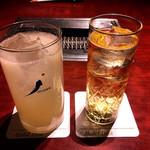 叙々苑 - 梅酒 864円 グレープフルーツサワー 810円