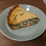 60132576 - ほうれん草とリコッタチーズのキッシュ