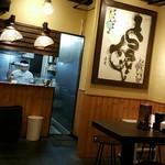 博多一瑞亭 - 厨房を望む 2016.12