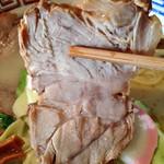 多摩利屋 - 牛乳らーめん「かんたろう」600円+大盛り150円(チャーシュー)