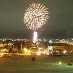 ラッキーピエロ - 元町公園から花火を