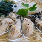 潮の音 - 炙りカキ潮麺:1,000円/2016年12月