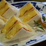 自家焙煎珈琲 蘭館 - 卵サンド