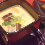 地鳥料理 万徳 別亭 安東 - 地鶏卵の茶碗無視