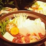 地鳥料理 万徳 別亭 安東 - 宮崎地鶏の水炊き