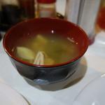 レストランいづみ - 2016.12 味噌汁付き