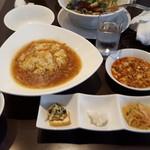 四川料理 天華 - ふかひれあんかけチャーハンセット