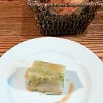 フランス食堂 LA CARAPACE - 白菜のテリーヌ(小前菜)、パン