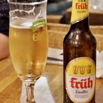燻製と地ビール 和知 - フリューラドラー:       フリューケルシュとレモネードを1:1の割合で割った本場ドイツのビアカクテル