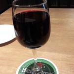 ピッツァナポレターノカフェ - ランチセットにしてもらった赤ワイン通常500円