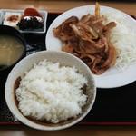 ふじ亭 - 豚生姜焼き定食