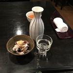 味ごよみ吉野 - イカゲソ生姜醤油300円と高清水(大)640円