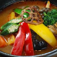 チキンとたっぷり野菜のスープカレー ナンorライスセット