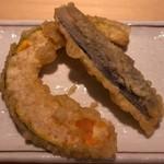 揚げたて天ぷら定食 まきの - かぼちゃ・なす
