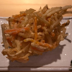 揚げたて天ぷら定食 まきの - 野菜かき揚げ