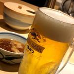 揚げたて天ぷら定食 まきの - 生ビール