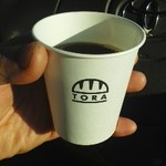 パンのトラ - サービスのホットコーヒー