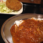 カレー食堂 マッハ - ライス小+メンチカツ(550円)を頂きました。
