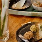 燻製と地ビール 和知 - 自家製あて味噌 3種盛