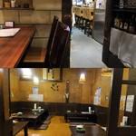 江戸や鮨八 - 入口が側にはカウンター席、奥には座敷もあります