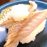 回転寿司喜楽 - 熊本県産いとより鯛炙り ¥230 (税別)